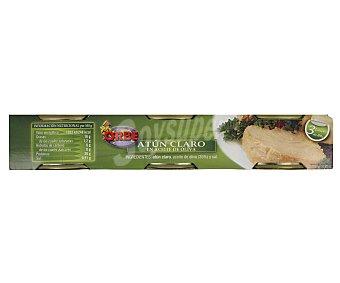 Orbe Atún claro en aceite de oliva Pack de 3 unidades de 80 gramos
