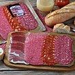 Tabla 4 embutidos curados loncheado: jamón, chorizo, salchichón y salami 100 G 100 g Juan Luna