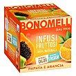 Infusión de papaya y naranja en Bolsitas 24 ud Bonomelli