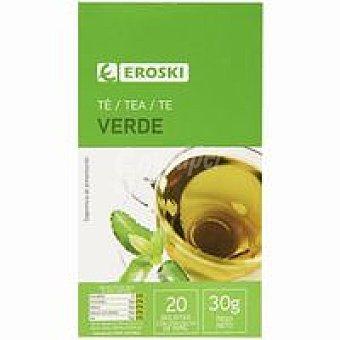 Eroski Té verde Caja 20 sobres