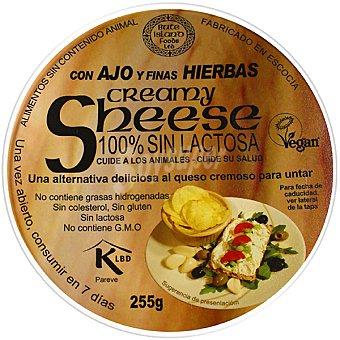 SHEESE Creamy Queso para untar sabor ajo y finas hierbas 100% sin lactosa envase 255 g Envase 255 g