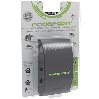 Radarcan Ahuyentador anti-plagas voladores y rastreros uso domestico 230v hasta 300 m2