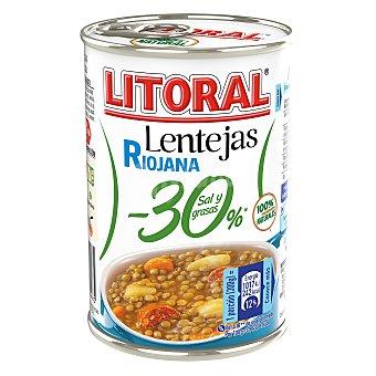 Litoral Lentejas a la riojana -30% en sal y grasas Lata 425 g