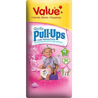 HUGGIES PULL UPS Bragapañal niña Talla M Paquete 54 unid