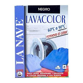 La Nave Tinte ropa lava y tiñe negro Caja 4 sobres