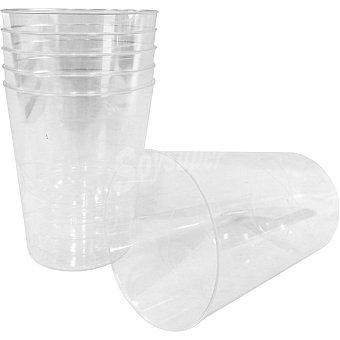 Casactual vaso transparente paquete 6 unidades - 320cc casa vaso