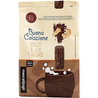 Intermón Oxfam Buona Colazione galletas con cacao y anacardos con azúcar integral de caña y sin aceite de palma Estuche 300 g