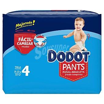Dodot Pants pañales 9-15 kg talla +4 paquete 33 uds paquete 33 uds