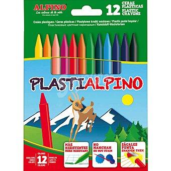 ALPINO plastialpino estuche con 12 ceras plásticas