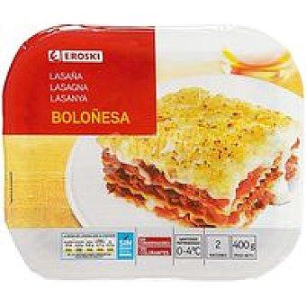 Eroski Lasaña a la boloñesa Bandeja 400 g