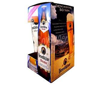 BENEDIKTINER Cervezas de trigo más un vao Pack de 3 botellas de 50 centilitros