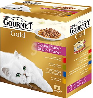 Gourmet Purina Purina gold Doble Placer Pack Surtido 8x85g