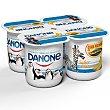 Yogur con sabor a plátano, realizado con fermentos naturales 4 x 125 g Danone