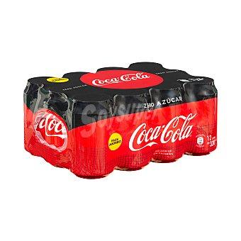 Coca-Cola Zero Refresco de cola zero sin azúcar Pack 12 latas de 33 cl