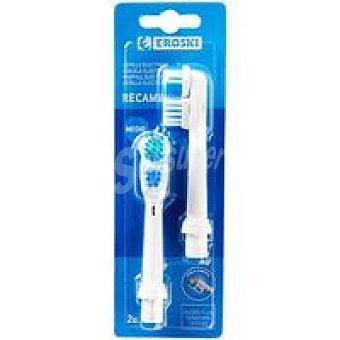 Eroski Cepillo dental Eléctrico 2 unid