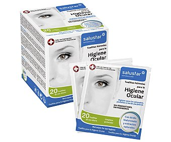 Salustar Toallitas húmedas para la higiene ocular 20 uds
