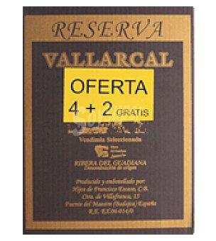 Vallarcal Vino reserva Pack de 4x75 cl