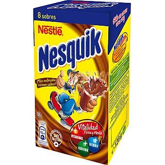 Nesquik Nestlé Pack 8 sobres individuales de 15g estuche 120 g Pack 8