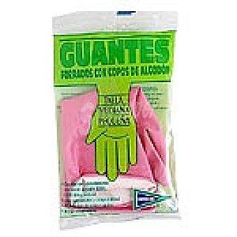 HIPERCOR guantes Flokados talla pequeña mediana bolsa 2 unidades
