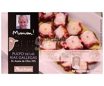Mmm Auchan Pulpo de las Rías Gallegas en Aceite de Oliva Lata 70 Gramos