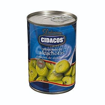 Cidacos Alcachofa corazones medianos 10/12 piezas conserva Bote 240 g neto escurrido