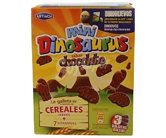 Artiach Galletas forma dinosaurio de cereales y chocolate 120 gramos