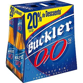 BUCKLER 0,0% Cerveza sin alcohol pack 20% de descuento 6 botellas 25 cl Pack 20