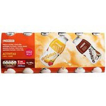 Eroski Activita sabor de fresa-plátano-coco-piña Pack 12x100 ml