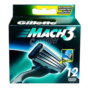 Gillette Recambio mach3 12 ud