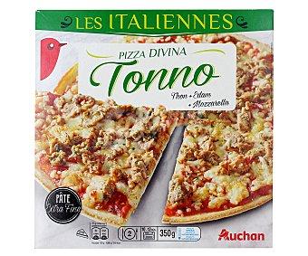 Auchan Pizza de masa fina con atún 355 gr