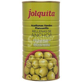 JOLQUITA Aceituna manzanilla rellena de anchoa  lata 1,5 kg