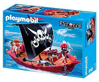 Playmobil Barco corsario con 2 figuras y accesorios, serie Pirata, modelo 5298 de 1 unidad