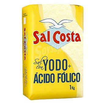 Sal Costa Sal yodada marina con ácido fólico 1 kg