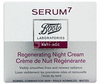 Boots-Serum7 Crema antiedad noche, para piel normal a mixta 50 Mililitros