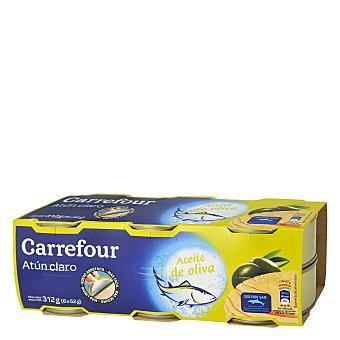 Carrefour Atún claro en aceite de oliva Pack de 6x52 g
