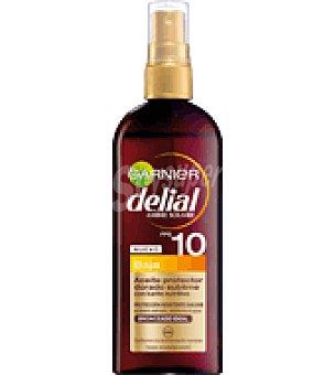 Delial Garnier Aceite solar factor de protección 10 150 ml