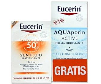 Eucerin Fluido solar FP 50 Rostro, piel normal y mixta + Crema Hidratante 50 ml