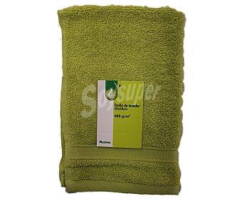 Auchan Toalla de tocador lisa color verde pistacho, 100% algodón 400 gramos/m², 30x50 centímetros 1Unidad