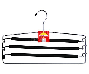 Rozenbal Percha metálica con 3 barras antideslizantes para pantalones 1 Unidad