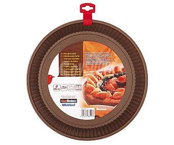 Auchan Molde de aluminio para tartas, bizcochos...fondo desmontable que facilita el desmoldado, 28 centímetros de diámetro 1 Unidad
