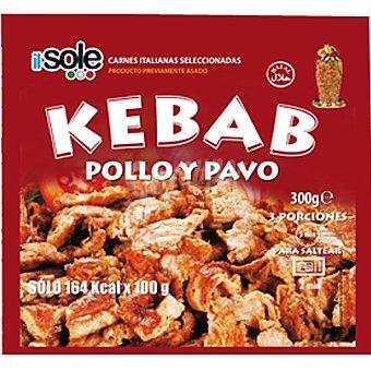 IL SOLE Carne para kebab de pollo y pavo Bolsa 300 g