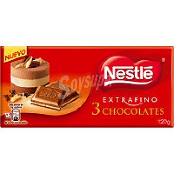 Nestlé Chocolate 3 extrafinos Tableta 150 g + Nesquik