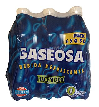 Hacendado Gaseosa Botellin pack 6 x 0,5 L - 3 L