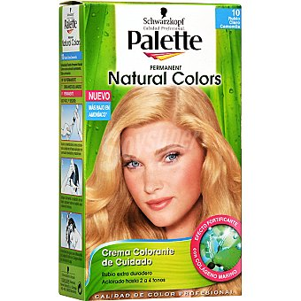 Schwarzkopf Palette Tinte Natural Colors nº 90 rubio claro camomila crema colorante permanente con aloe vera Caja 1 unidad