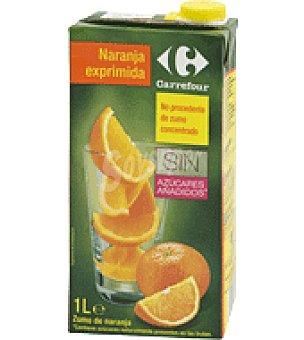 Carrefour Zumo exprimido de naranja Brik de 1 l