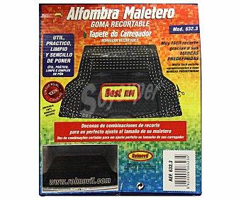 ROLMOVIL Alfombrilla para maletero de goma de color negro 1 unidad