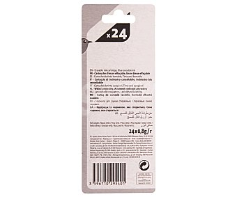 Auchan Lote de 24 cartuchos cortos de tinta de color azul para pluma estilográfica 1 unidad