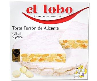El Lobo Torta de turrón duro de Alicante 200 gramos