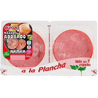 ElPozo Magro de cerdo adobado bipack Bandeja 330 g