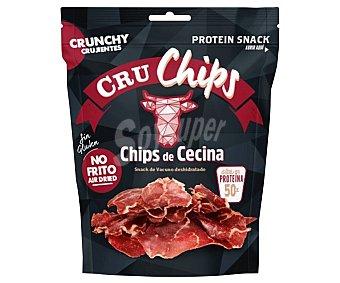 CRUCHIPS Snack crujiente de vacuno deshidratado, no frito 25 g